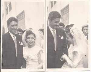 [A photo of mis abuelitos on their wedding day, 1950]