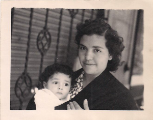 [Two photos of my fabulous abuelita, circa the 1950s]