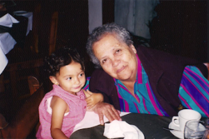 [A photo of mi abuelita + cousin, circa early 2000s]